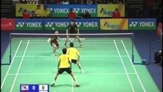 2009 all england md cai yun fu haifeng vs han sanghoon hwang jiman highlight