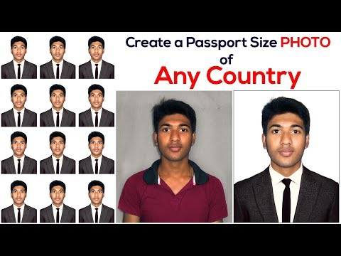 How to Create a Passport Size Photo | Change Shirt and use