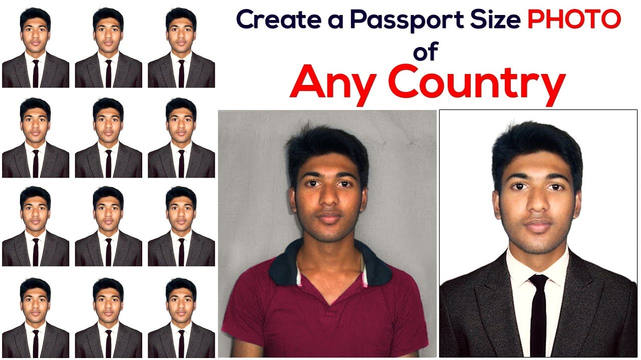 How to Create a Passport Size Photo | Change Shirt and use Suit (Coat Tie)  In Photoshop | #Maxpoint