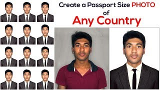 How to Create a Passport Size Photo | Change Shirt and use Suit (Coat Tie) In Photoshop | #Maxpoint screenshot 5