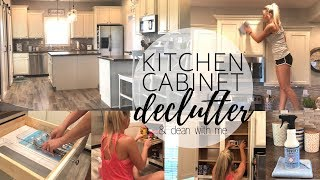 Kitchen Cabinet Declutter | Clean With Me | Kitchen Cleaning | Declutter With Me