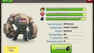 Lets Play Clash Of Clans - Buying Golem Max Level 4 With Gameplay