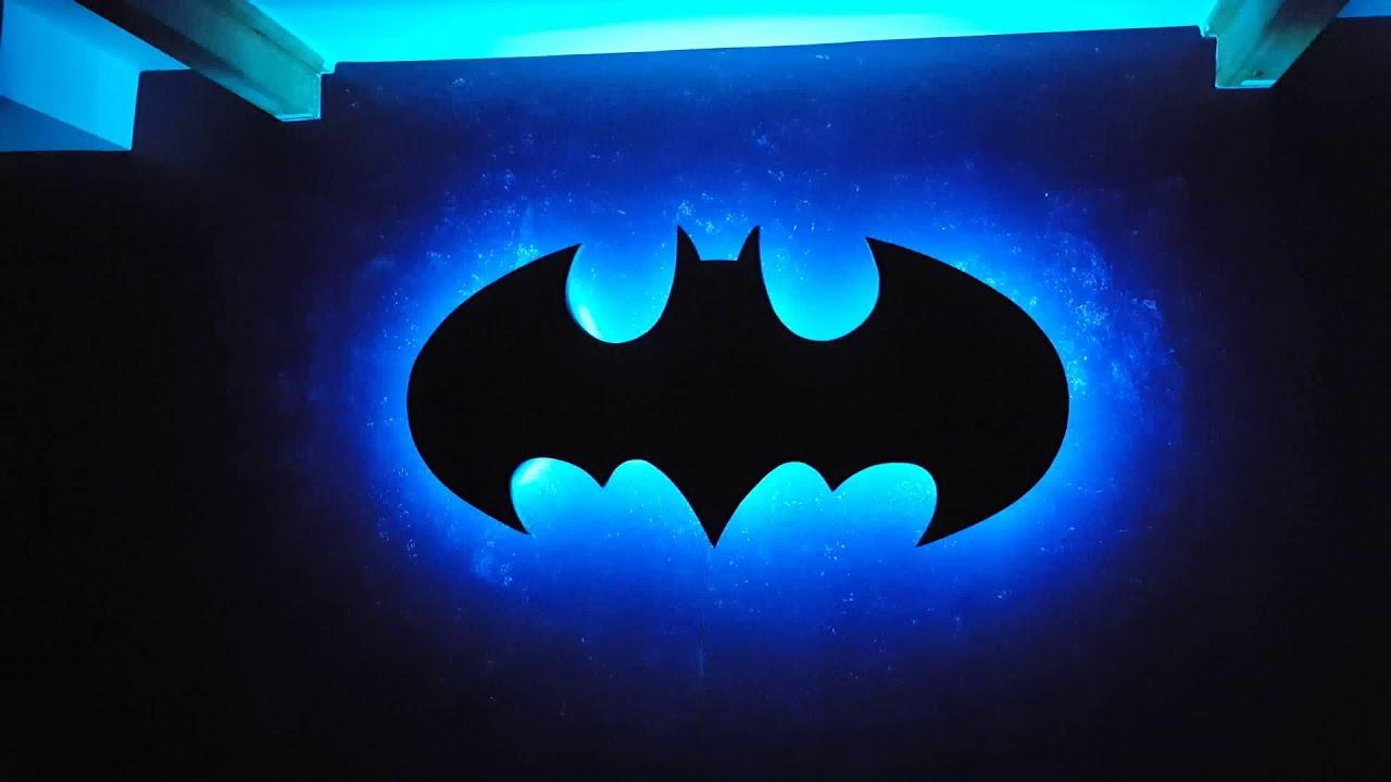 Light Up Music Playing Batman Symbol Youtube