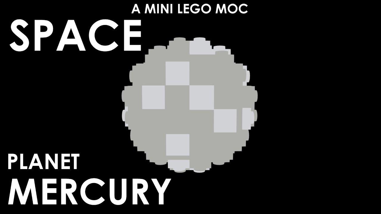 Lego Mocs Space Mini Lego Planet Mercury Model Video