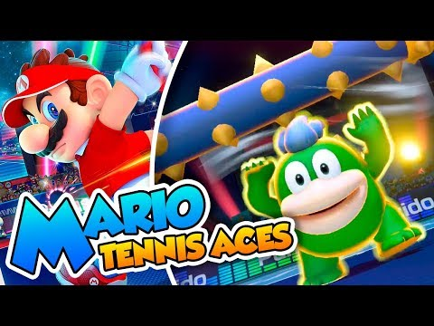 ¡No te comas la pelota Spike! - Mario Tennis Aces DEMO  (Switch) DSimphony