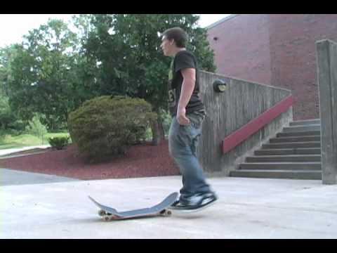 Mike Barrows kickflip 9 set attempt