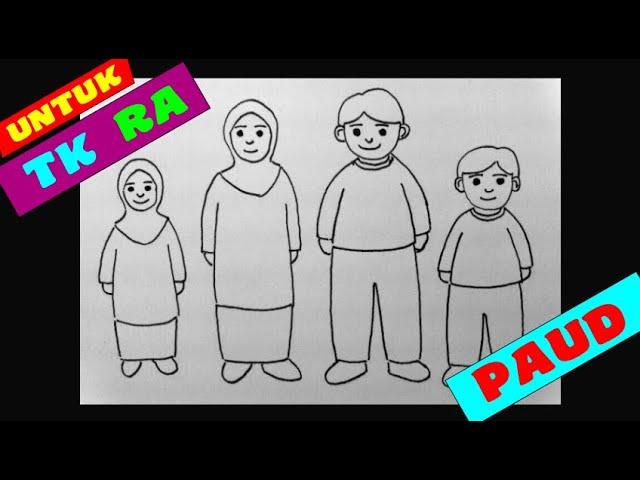 Cara Menggambar Anggota Keluarga Anak Tk Tema Keluargaku Cara Mudah Menggambar Orang Youtube