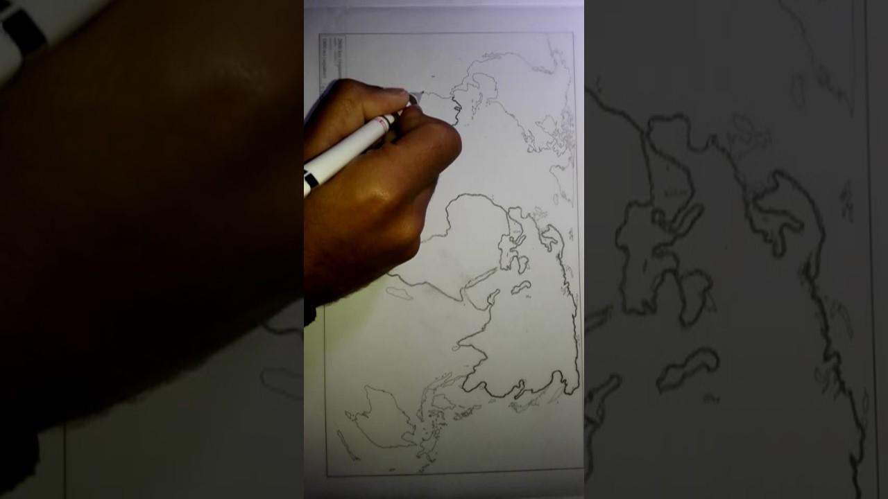 تعلم رسم خريطة على ورق كالك Youtube