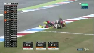 terrible crash for lorenzo baldassarri dutchgp