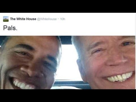 Obama and Biden: Selfie pals