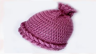 Детская шапка крючком  Василиса