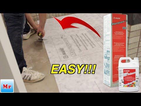 Easy Mapeguard 2 Membrane Installation  For Tile MrYoucandoityourself