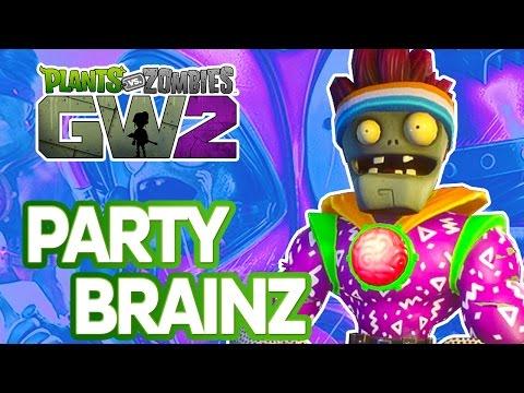 Plants Vs Zombies Garden Warfare 2: Party Brainz Character Showcase