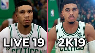 NBA 2K19 vs. NBA Live 19 Graphics Comparison on PS4