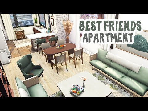 Best Friends Apartment    The Sims 4 Apartment Renovation: Speed Build