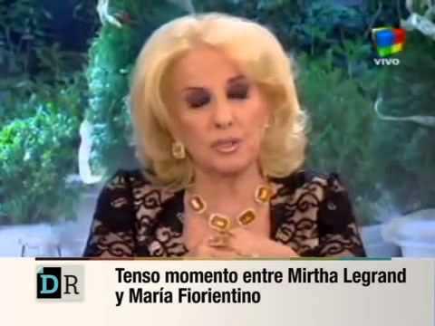 La actriz María Fiorentino le pone los puntos a Mirtha Legrand