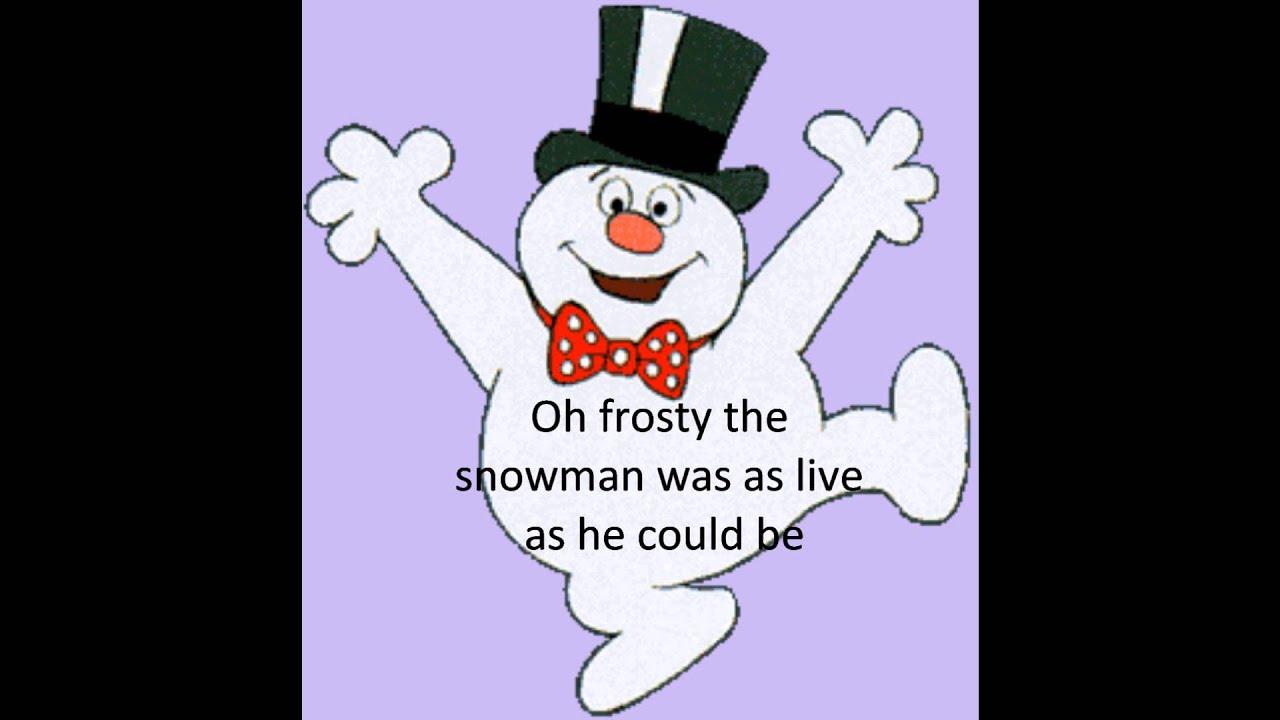 bing crosby frosty the snowman lyrics