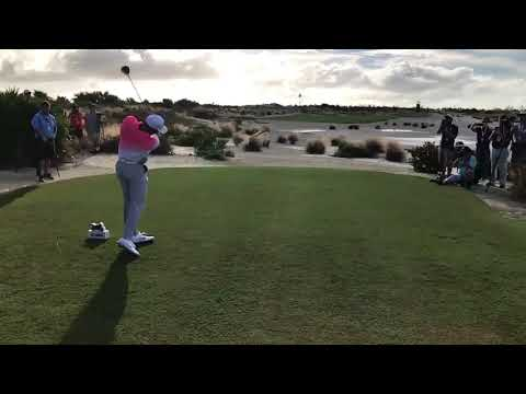 Tiger Woods drove the green on a 340-yard Par 4 during a Pro Am round
