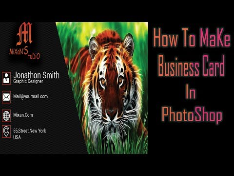 business card design tutorial thumbnail