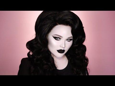 Black white noir makeup tutorial you