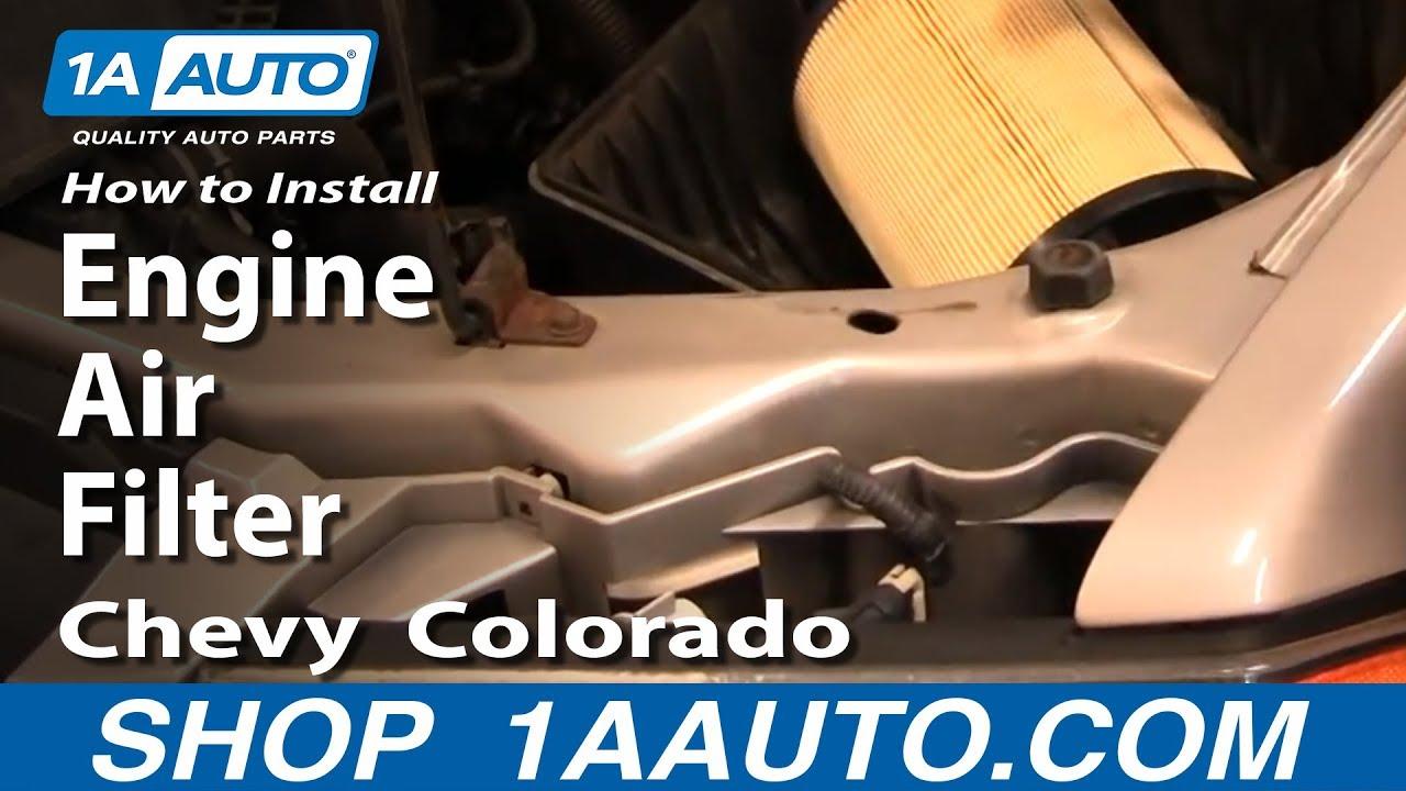 How To Install Replace Engine Air Filter Chevy Colorado 04 12 1aauto 2001 Silverado Fuel Location 1aautocom Youtube