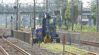 レンタルのニッケン・鉄道用ユンボ超小旋回(NIKKEN CORPORATION)