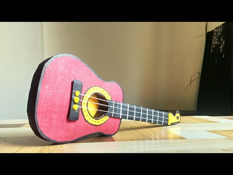 Miniature Guitar | mini guitar | Paper Craft | Home Decor Idea | Paper Art By Punekar Sneha.