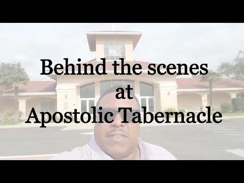 Apostolic Tabernacle Behind the Scenes 3-28-2020