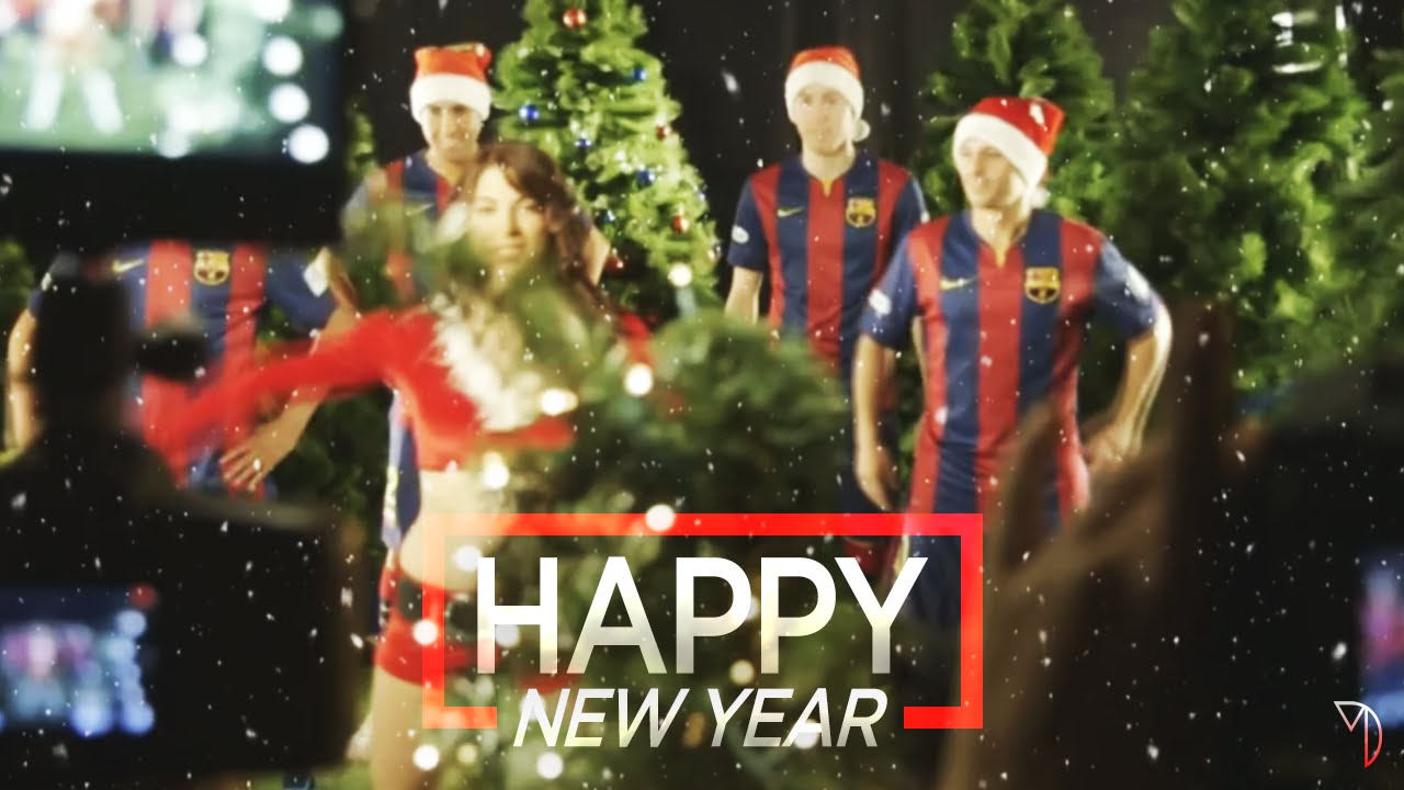 Football Players Wishes You A Happy New Year Merry Christmas Youtube