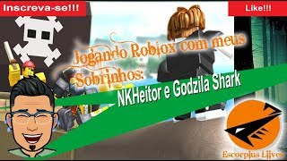 Playing Roblox and Minecraft with my nephews Godzila and NK Hector