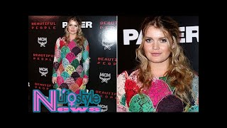 Lady kitty spencer looks glam at nyfw party