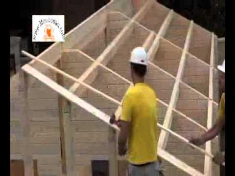 Montaje de casas de madera bungalows para campings - Montaje casa de madera ...