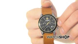 Vivienne Westwood Men's Camden Lock II Chronograph Watch (VV069BKBR)