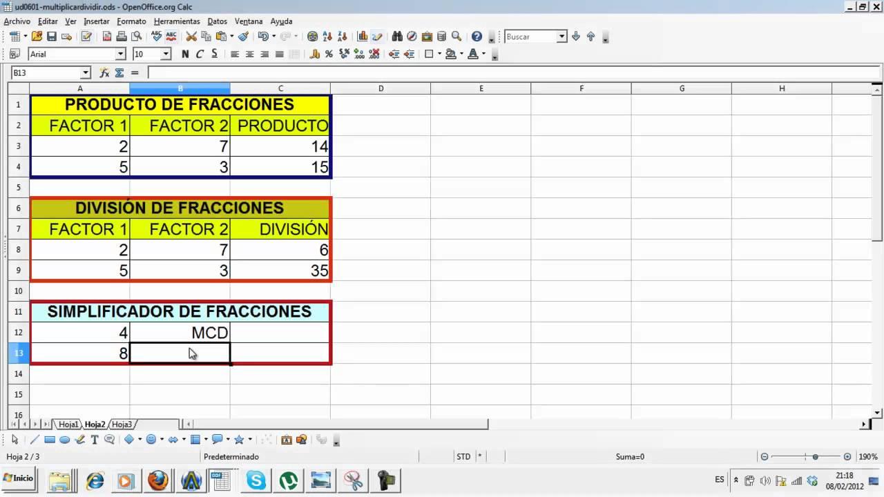 Perfecto Reducir Fracciones Hoja De Cálculo Patrón - hojas de ...