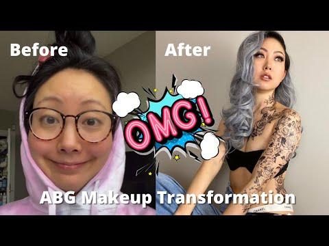 Crazy ABG (Asian Baby Girl) Makeup Transformation. Turning myself into a baddie & shocked!! - Jeenie.Weenie