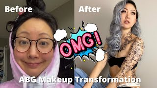 Crazy ABG (Asian Baby Girl) Makeup Transformation. Turning myself into a baddie & shocked!!