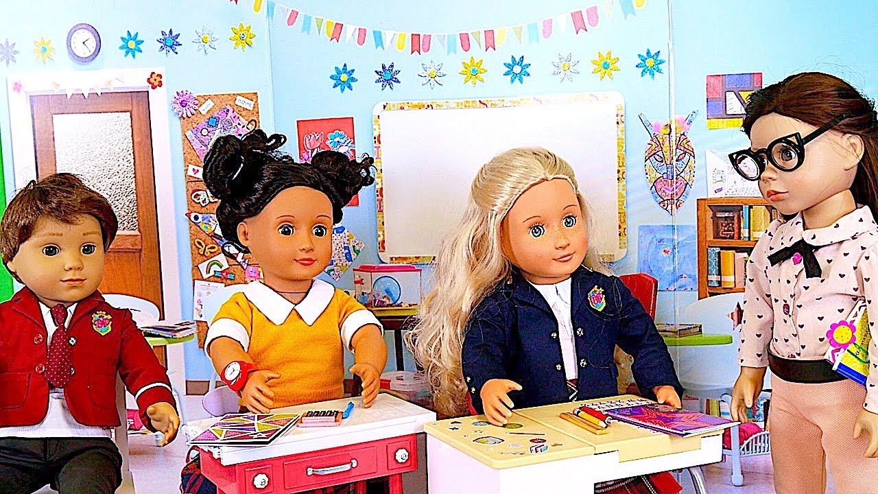 American Girl Doll School Classroom And Baby Doll Sports