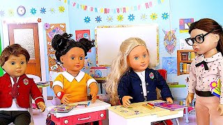 American GIrl Doll School Classroom and Baby Doll Sports Toys! 🎀