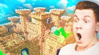 НУБ и ПРО построили Самый ПРОЧНЫЙ замок на Сервере в Майнкрафт — Красивый дом в Майнкрафте | ВЛАДУС