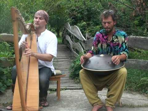Alizbar & Amin Varrkonyi  Hang drum  with celtic  harp