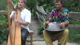 Alizbar & Amin Varrkonyi  Hang drum  with celtic  harp