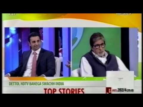 "Adar Poonawalla in an interview with Amitabh Bachchan on NDTV ""Banega Swachh India"""