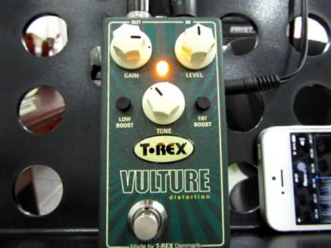 T Rex Engineering Vulture Distortion Guitar Effects Pedal with Low and Fat Boost