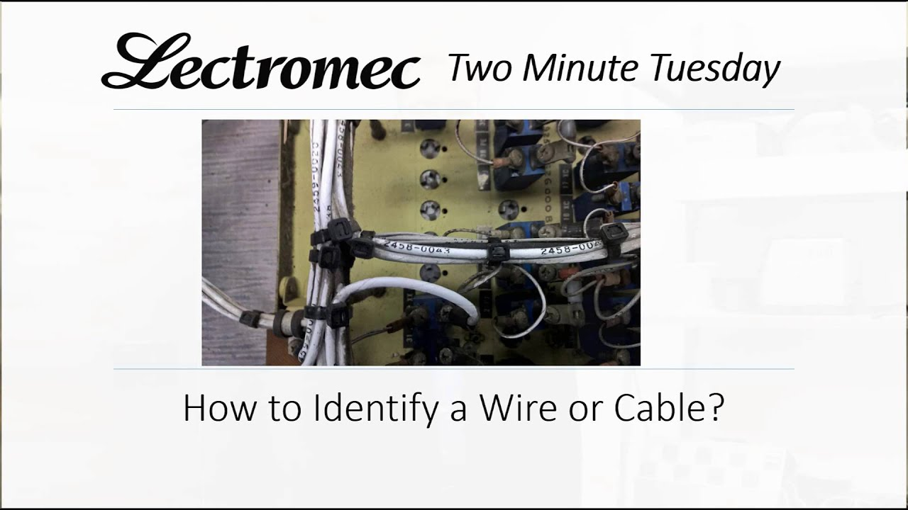 How to Identify an Aircraft Wire or Cable - YouTube