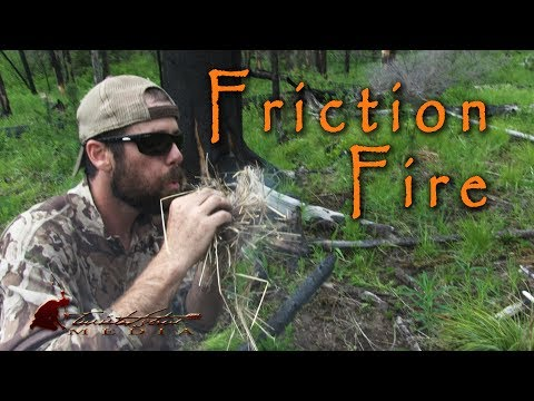 Bow Drill Friction Fire and Cooking Trout in the Backcountry