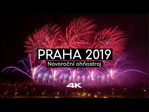 Novoroční ohňostroj Praha 2019 - Video, Photos