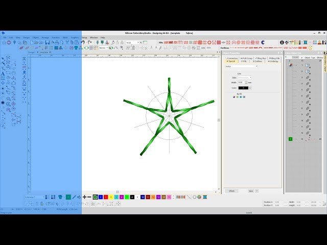 Create a template in CorelDRAW for embroidered Stars