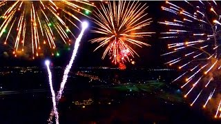DRONE FLIES THROUGH EXPLODING FIREWORKS!!