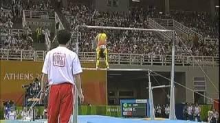 2004 Olympics Women's All Around Part 1 BBC Coverage