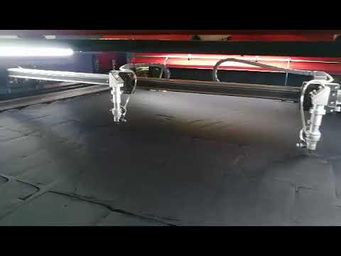 Shoe upper Vamp multi-layer laser cutting machine ( black mesh Mass production